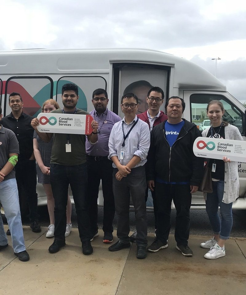 Process Fusion Participates in Blood Donation with Canadian Blood Services