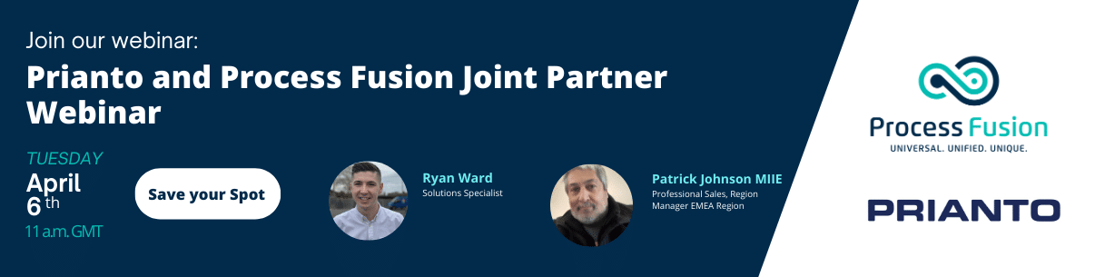 Prianto and Process Fusion Joint Partner Webinar